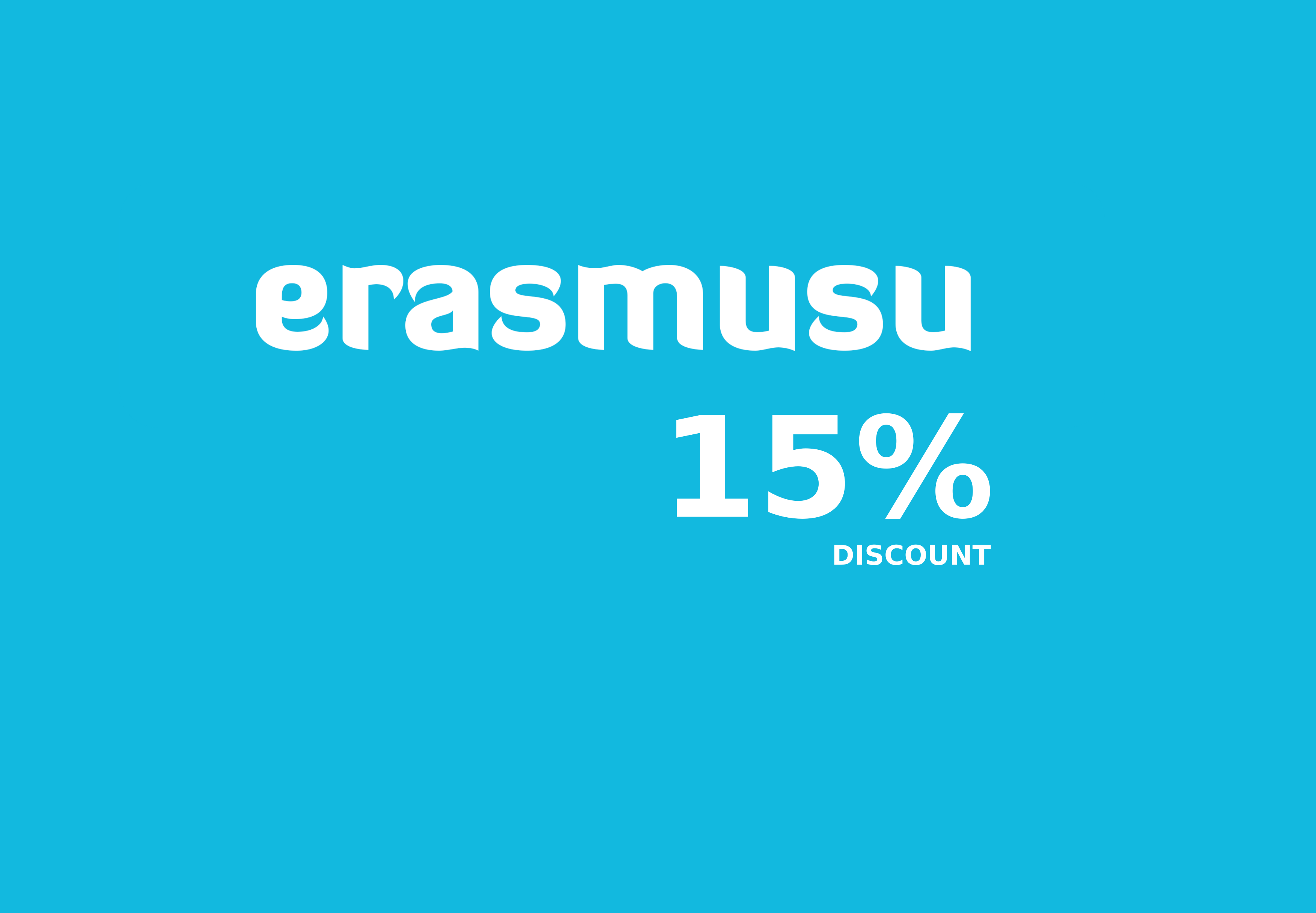 ERASMUSU - 15% DISCOUNT