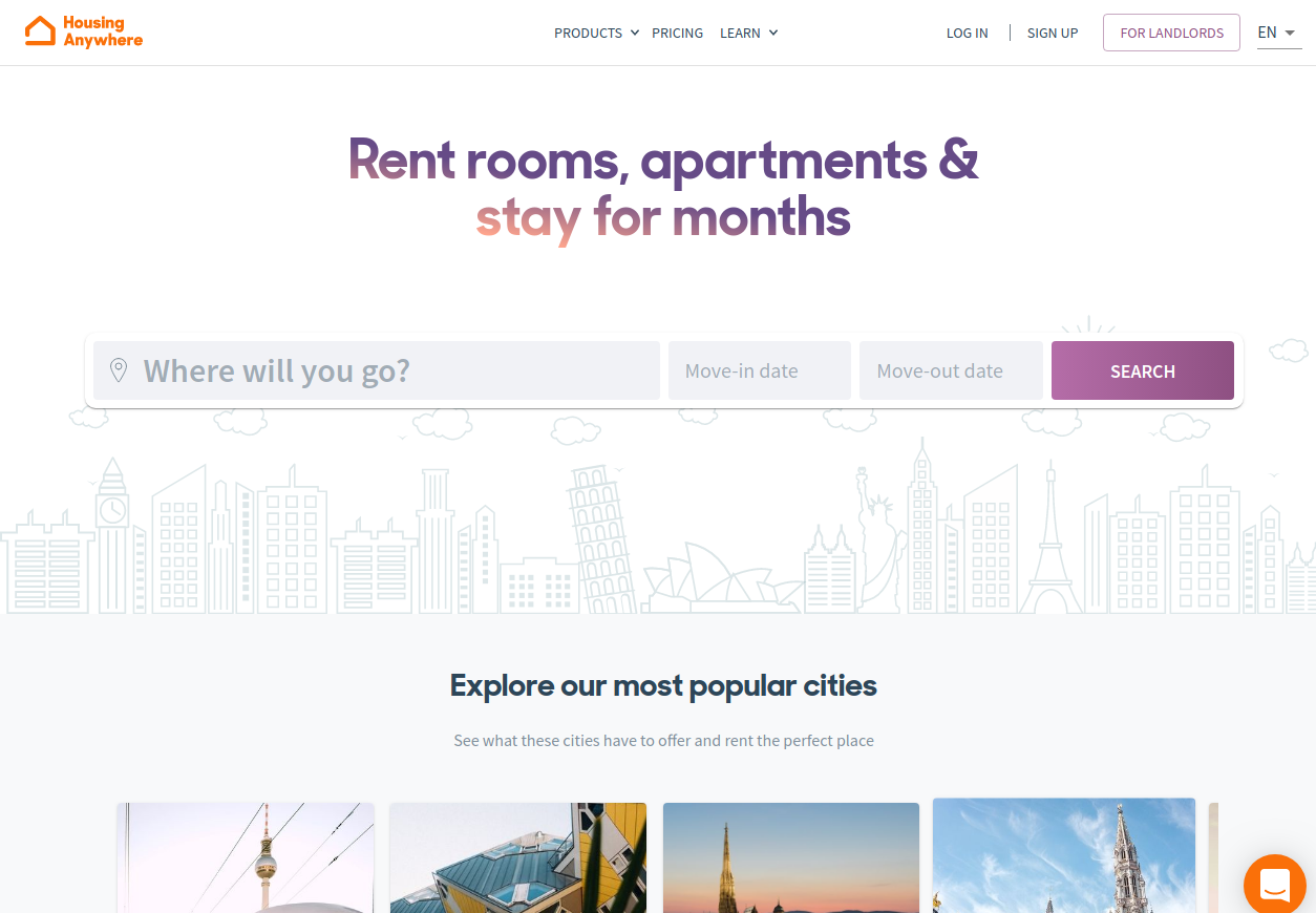 Rooms & Apartments for rent